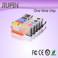 JIUPIN 5 color PGI 280 CLI 281 Refill Ink Cartridge with Disposable Chip for Canon PIXMA TR7520 TR8520 TS6120 Printer PGI 280 CL