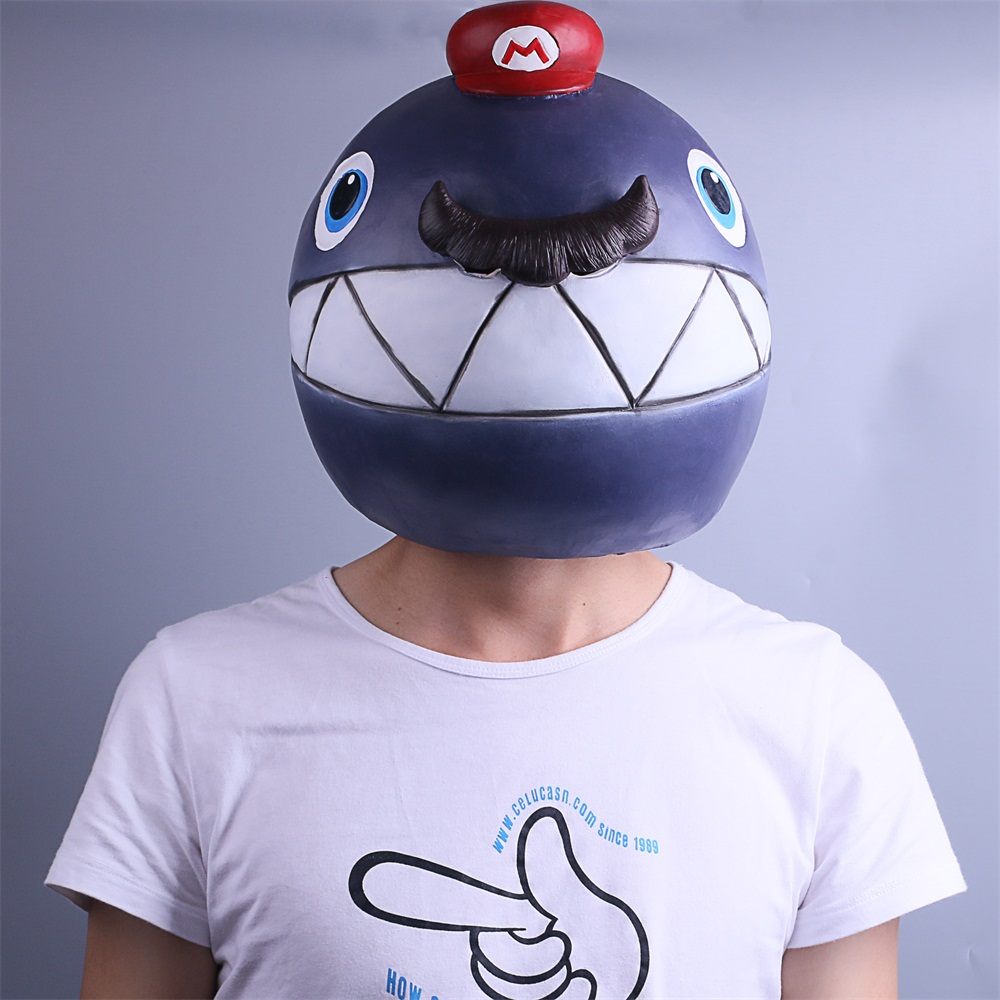 Game Super Mario Odyssey Mask Cosplay Odyssey Costume Bomb Mask Handmade Monster Mask