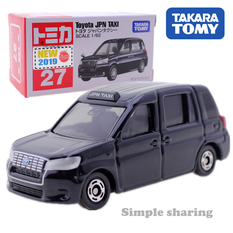 Takara TOMY Tomica Toyota JPN TAXI 1/62 No.27 Hot Pop Funny Miniature Diecast Baby Car Toy Model  Kids Toys For Children