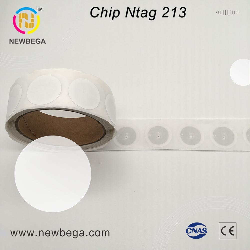 10PCS RFID NXP NFC Chip Ntag213 Sticker Diameter 29mm 13.56MHz RFID Label Tags For Sale