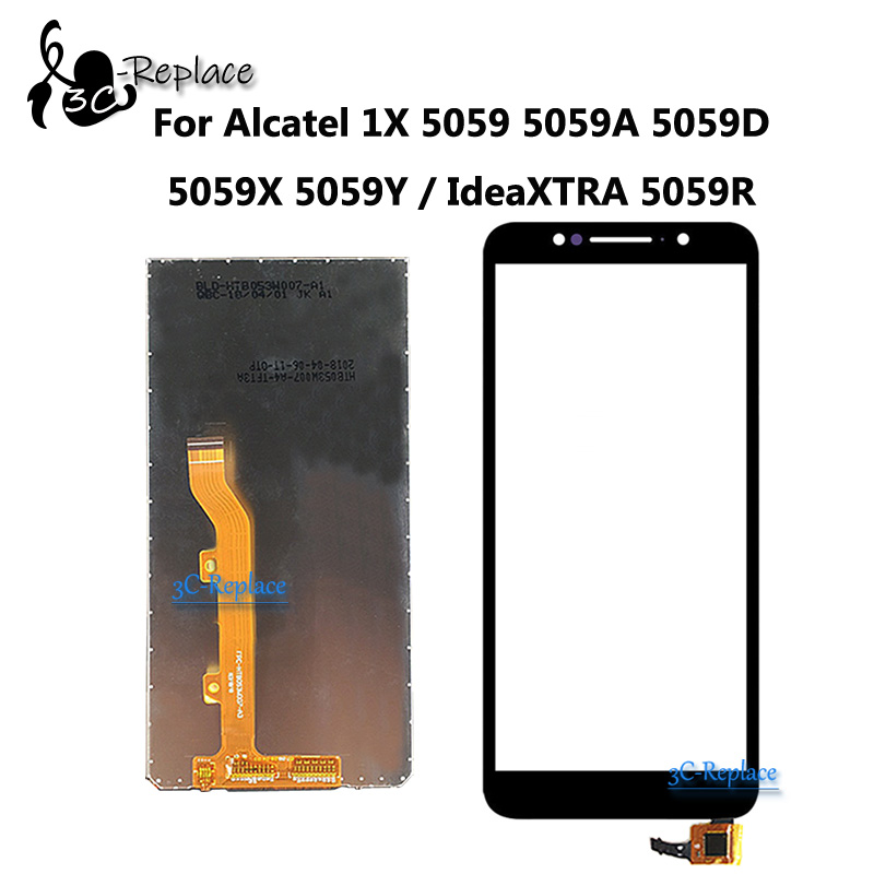 new 5 3inch For Alcatel 1X 5059D 5059 LCD Assembly Display + Touch