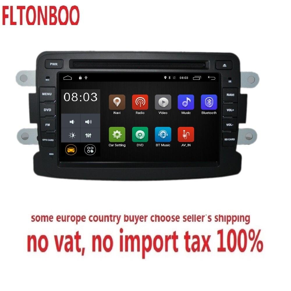 7 pouces Android 8.1 pour renault duster, dacia, Sandero voiture DVD, navigation gps, Wifi, radio, bluetooth, volant, Livraison 8g Carte, mic