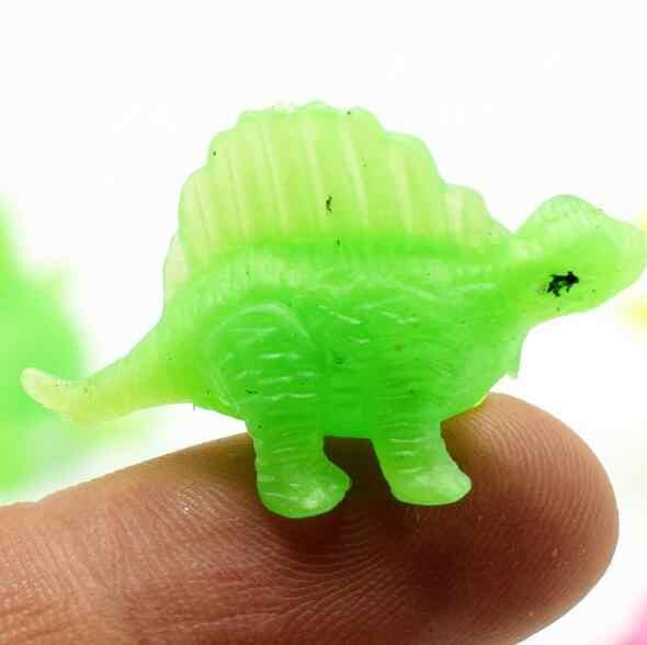 20 unids/lote mini juguete de dinosaurio de plástico, regalo de cumpleaños para niños, modelo de dinosaurio al azar, modelo de dinosaurio, muebles LYQ