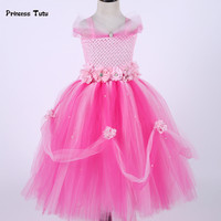 Flowers Baby Girl Princess Dress Tulle Tutu Dress Baby Girl Newborn Toddler Infant Wedding Party Ball