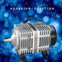 220 Вт Resun ACO 018A аквариума Электромагнитная воздушный насос Гидропоника воздушный компрессор большое давление аквакультуры аэратор