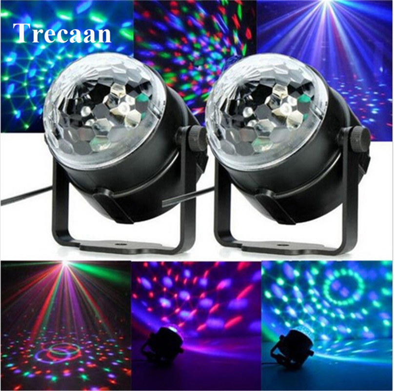 3W DJ Light RGB Color Changing Sound Actived Crystal Magic Mini Disco Ball Led Stage Lights for KTV Xmas Wedding Party Light