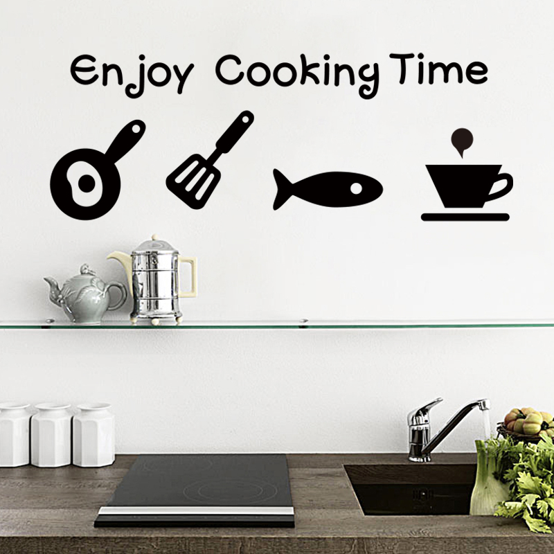 New design Waterproof Removable kitchen marks Wall Stickers for dining room or kitchen