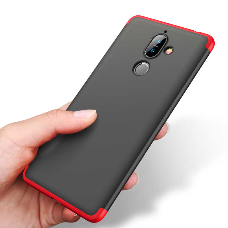 official photos ac83d 22bb8 Case for Nokia 7 Plus Case Shockproof 360 Full Protection 3 In 1 Hard  Plastic Case for Nokia 7 plus Cover Fundas Coque