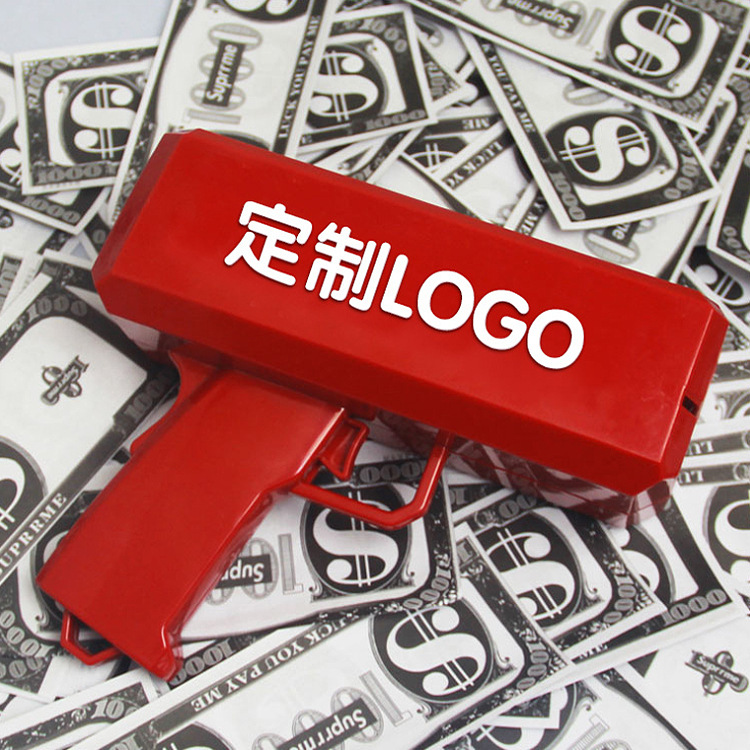2019 Explosion Models Net Red Money Gun Spray  Dollar Gun Toy Guns Banknotes Boys And Girls Universal