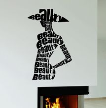 Beauty Style Wall Sticker Fashion Salon Shop Decal Removable Vinyl Art Mural Decoration Home AY787