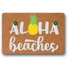 Funny Door Mat Entrance Mats Aloha Beaches Patten Non-slip Doormat for entrance door outdoor pineapple pattern