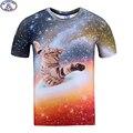 Mr.1991 марка galaxy cat 3D футболка для мальчиков и девочек Новый 2017 летний стиль подростков футболка большие дети топы 11-20 лет A39