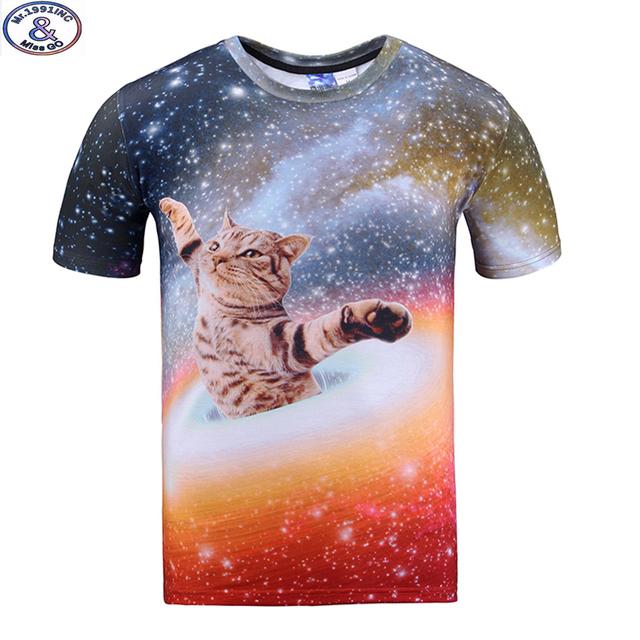 Mr.1991 marca galaxy gato 3d t-shirt para niños y niñas de nueva 2017 summer style adolescentes camiseta de big kids tops 11-20 años A39