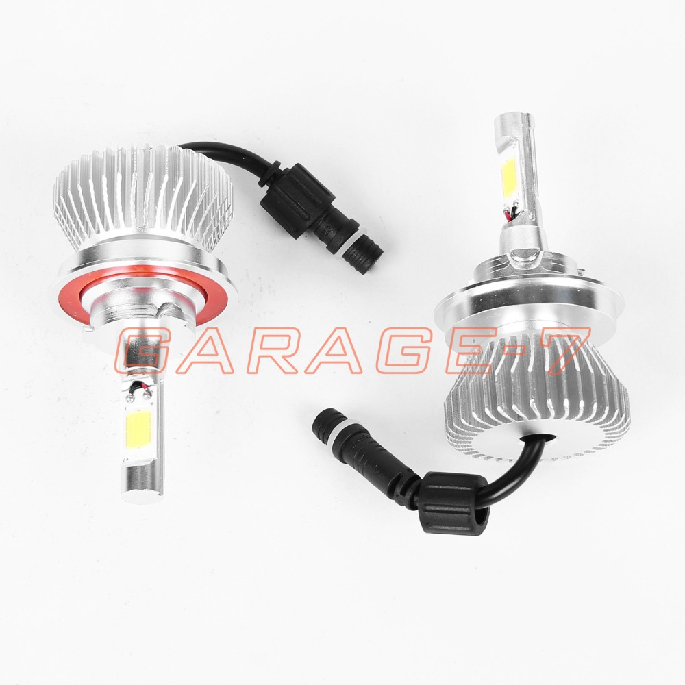 ФОТО 2PCS H13 high-quality 12 v 30 w 2200 lm Mini LED Headlight High Lumen Bulb COB Replacement With No Fan Design