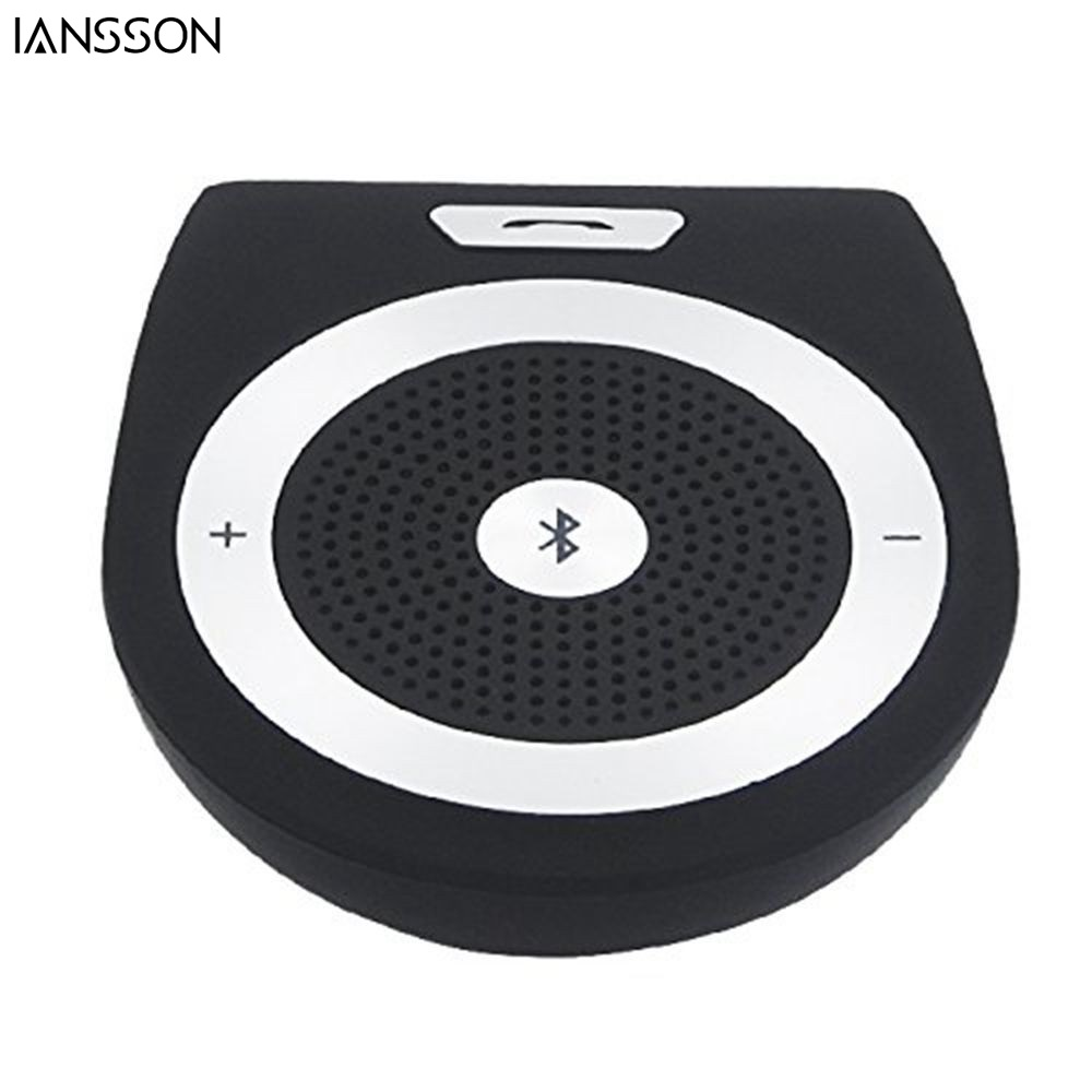 2016 New Stereo Bass Wireless Bluetooth Car Kit Speaker Speakerphone Handsfree Car Kit for iPhone 5