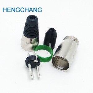 Image 4 - 3 Pin XLR dişi + erkek fiş 3 kutuplu XLR soket fiş mikrofon konektörü yeşil renk 10 adet/grup