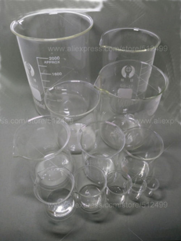 5PCS/SET 50ml 100ml 250ml 500ml 1000ml glass beaker 3.3 Borosilicate Lab Glassware Low Form одноразовый контейнер letter 1000 50 1000ml 500ml 650 750ml