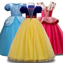 2018 Winter Cinderella Snow White Kids Dresses For Girls Party Princess Dress Christmas Costume Girls Dress Children Clothing