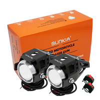 Free Shipping High Power 125w Motorcycle Projector Headlight 3000LM Motorbike Head Fog Lamp With Switch