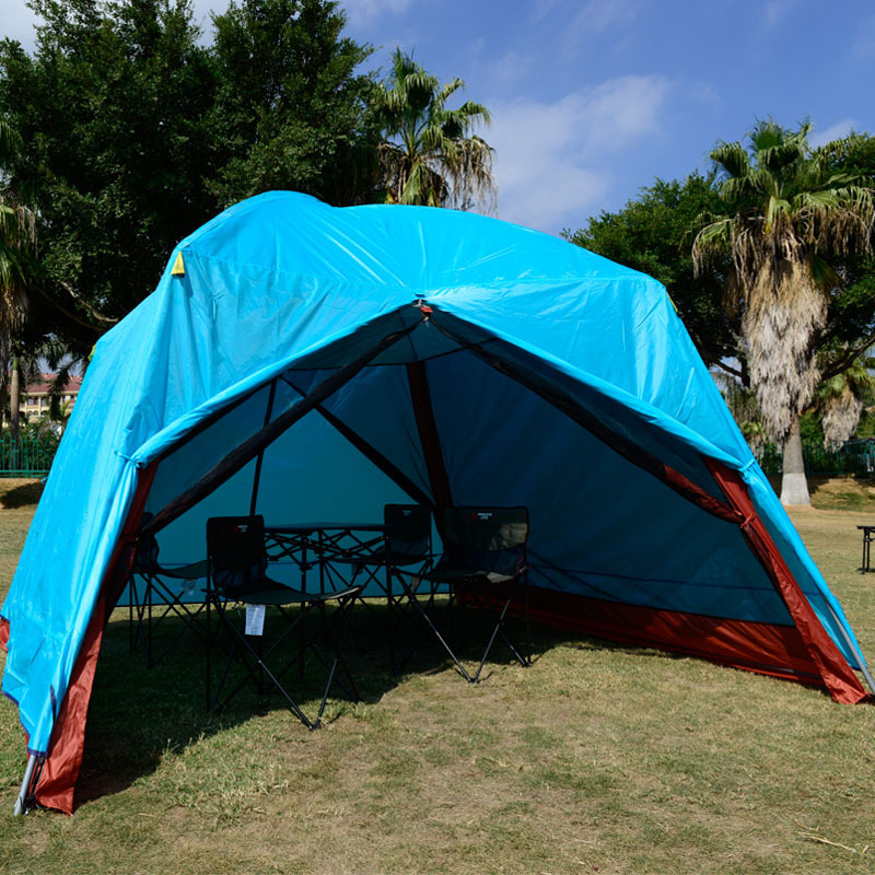 Double layer awning beach tent sun shelter outdoor tent UV protect mat awning gazebo shelter c&ing tent without floor mat-in Tents from Sports ... & Double layer awning beach tent sun shelter outdoor tent UV protect ...