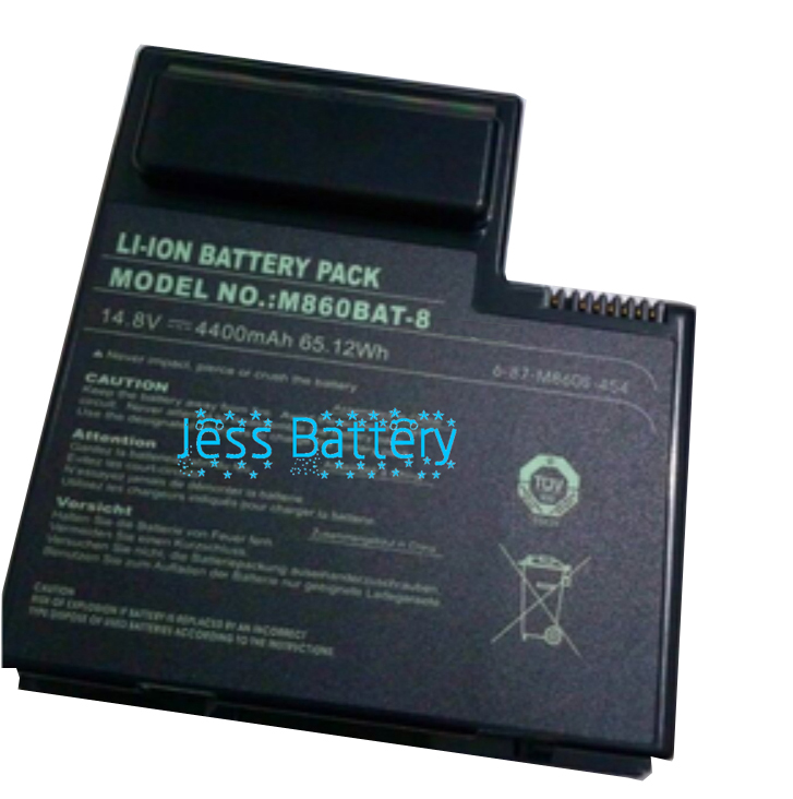 New laptop battery for Clevo M860ETU M860T 6-87-M860S-454 6-87-M860S-4P4 M860BAT-8 hot sale original quality new laptop battery for clevo d450tbat 12 d450t 87 d45ts 4d6 14 8v 6600mah free shipping