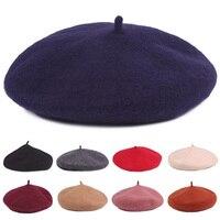 Women Ladies French Style Vintage Plain Wool Soft Winter Warm Beret Beanie Hat HATCS0539