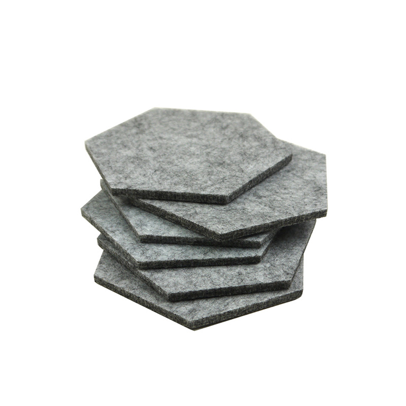 6X Mixed Felt Drink Coaster Coffee Red Wine Cup Mat Padding Placemat Tableware ...
