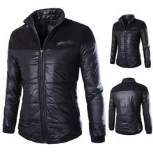 Men casual warm Jackets solid thin breathable Winter Jacket Mens outwear Coat Lightweight parka Plus size XXXL