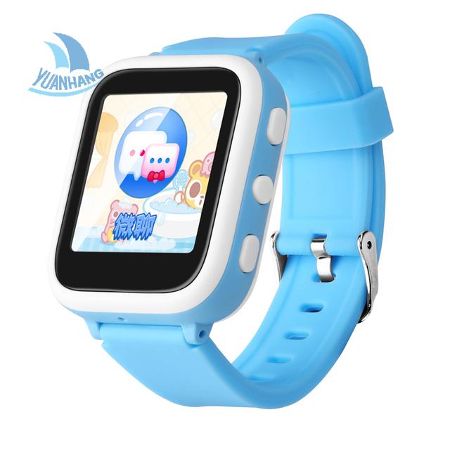Seguro inteligente LBS Localização Da Estação Base 1.44 'HD IPS Display relógio de Pulso Monitor de Chamada SOS DeviceTracker Seguro para o Miúdo Criança relógio