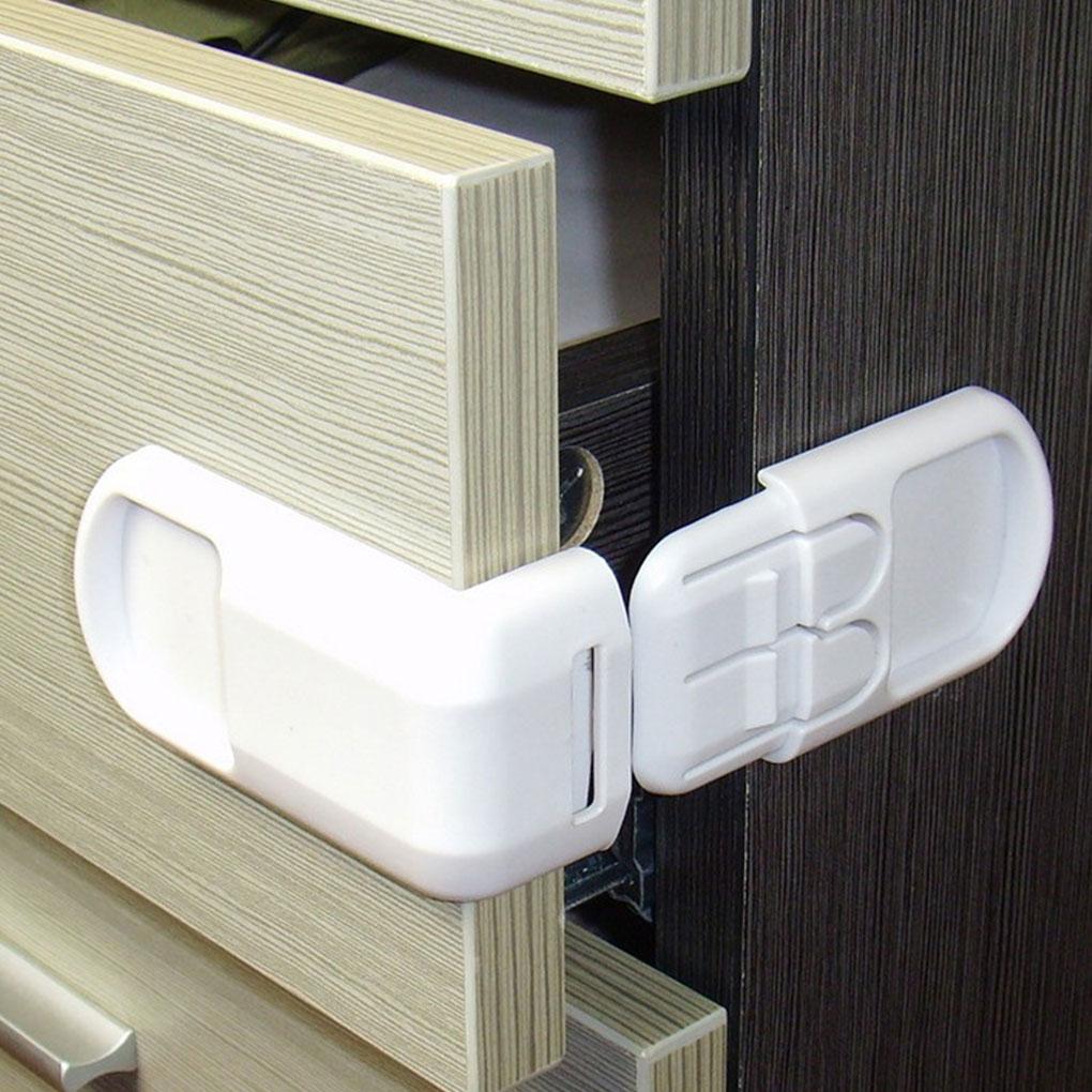 4 Pcs/set New Multifunctional Baby Child Safety Lock Double Snap Fastener Drawer Cabinet Door Locks