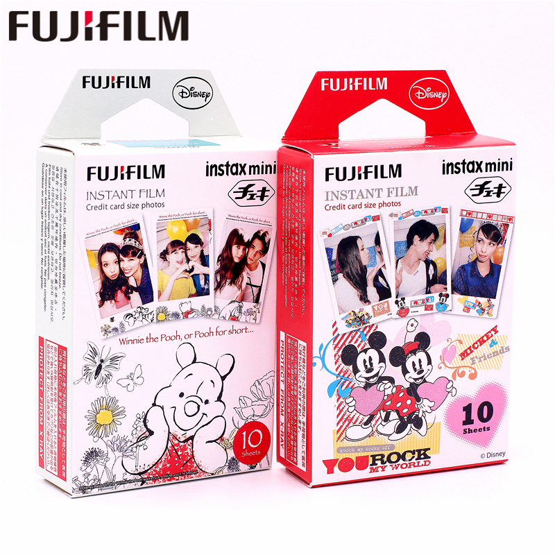 Fujifilm 20 sheets Instax Mini Winnie pooh honey bear + mickey Instant Film photo paper for Mini 8 7s 25 50s 90 9 SP-1 2 Camera freeshipping 500 pcs fujifilm instax mini 8 film 20x25 sheets for camera instant mini 7s 25 50s 90 photo paper with retail box