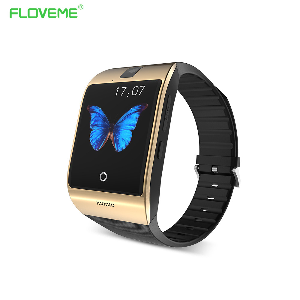 Camera Android Phone Support floveme bluetooth smart watch android phone support sim card smartwatch sport wearable wristwatch memory wacht