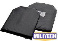 10 X 12 Shooters Cut Pair Bulletproof Aramid Ballistic Panel E2 Stab Resistant Body Armor NIJ