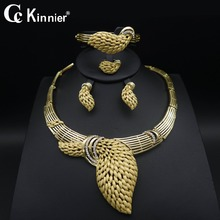 Fashion Bridal wedding jewelry set Dubai gold-color Exaggerate necklace earrings Imitated crystal african beads jewelry sets fashion women bridal dubai gold plated wedding jewelry sets african beads accessories exaggerate necklace bangle earrings ring
