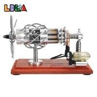 Lbla 16 цилиндров Воздушный Стирлинг Двигатели для автомобиля Двигатель модель Двигатель Двигатели для автомобиля игрушка Двигатели для авто