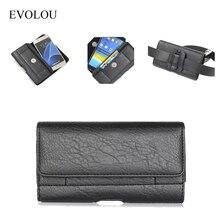 все цены на EVOLOU Luxury Leather Waist Bag Clip Belt Case For XGODY Y20 Y10 Y14 D11 X11 X12 X13 X200 Universal Phone Holster 4.7-6.3'' Case онлайн