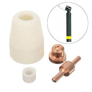 Image 2 - 75 pièces accessoires de coupe Plasma pour torche de coupe consommables KIT électrodes embouts buses ajustement CUT40 CUT50