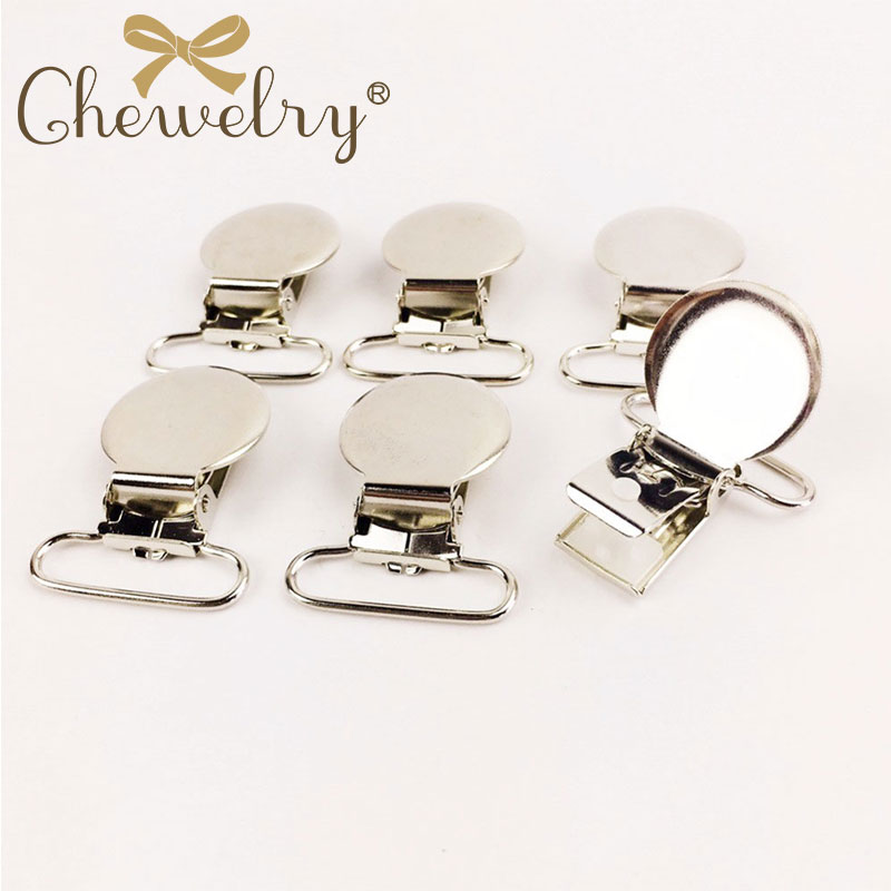 10pc Metal Pacifier Holder Clips Baby Teether Clip Accessories DIY Pacifier Chain Clip Nipple Clasps DIY Craft Baby Chewable Toy