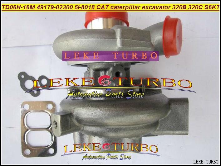 Free Ship Turbocharger TD06 TD06H-16M 49179-02300 5I-8018 Turbo For Caterpillar Excavator 320B 320C 320L Engine S6KT Diesel free ship turbo rhf5 8973737771 897373 7771 turbo turbine turbocharger for isuzu d max d max h warner 4ja1t 4ja1 t 4ja1 t engine