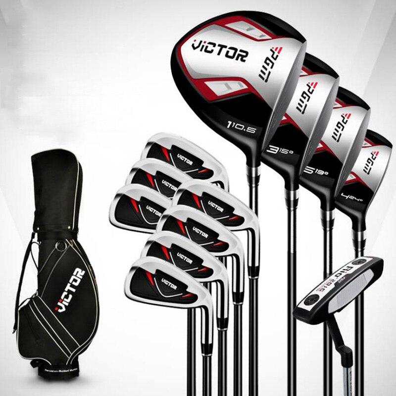 Golf club golf golf club ensemble hommes set de poteaux débutant ensemble complet de 12 ou un ensemble complet de 9 golf