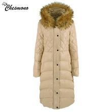 chesmono New Collection Winter Womens Jacket Coat Original Fur Collar Women Parkas Fashion Brand Womens Cotton Padded Jacket