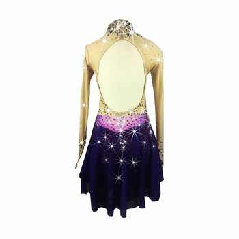 BHZW Figure Skating Dress Women\'s Girl\'s Ice Skating Dress Spandex