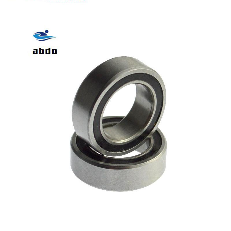 30pcs High quality ABEC-5 6201 2RS <font><b>6201RS</b></font> 6201-2RS 6201 RS 12x32X10 mm double Rubber seal Groove Ball Bearing for bicycle hubs image