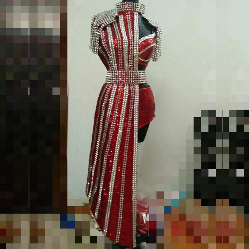 Сценический костюм Dj Singer для женщин, костюм для танцев на шесте с высокой талией, DJ104