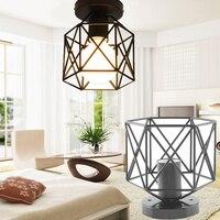 Retro Iron Lampshade Pendant Lamp Cover Guard Lighting Accessory Decoration Drop Shipping