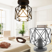 Retro Iron Lampshade Pendant Lamp Cover Guard Lighting Accessory Decoration