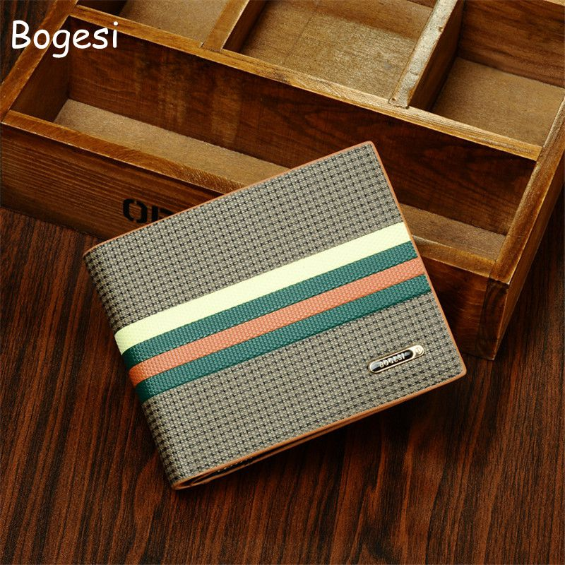 BOGESI Classic British Men's Wallet With Coin Pocket Animal Short Soft Men Wallets Brand Male Purse With shit color Card Holder цена и фото