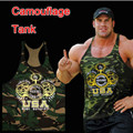 2017 European Camouflage Printing Mens Sexy Sun Tank Top Bodybuilding Stringer Tank Tops Muscle Vest M-XL Wholesale Purchasing