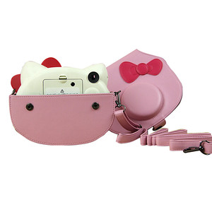 Image 5 - Розовая фотопленка Fujifilm Instax Mini Hello Kitty, лимитированная серия, 10 пленок Instax, чехол для камеры из ПУ, наклейка