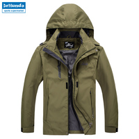 Outdoor Travel Jacket Men Camping Hiking Jacket Waterproof Polyester Solid Fishing Jackets Male Mountain Climbing Clothing